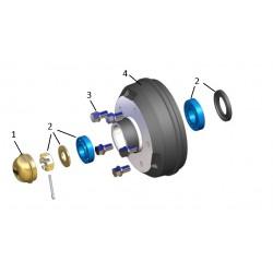Kit roulements 1300 à 1500kg 5T140 KNOTT (PAILLARD)