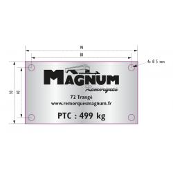 Plaque de tare PTC 499 kg