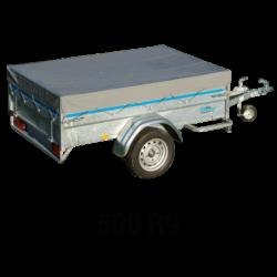 Bâche plate pour bagagère 500 R9 1.74X1.22 m